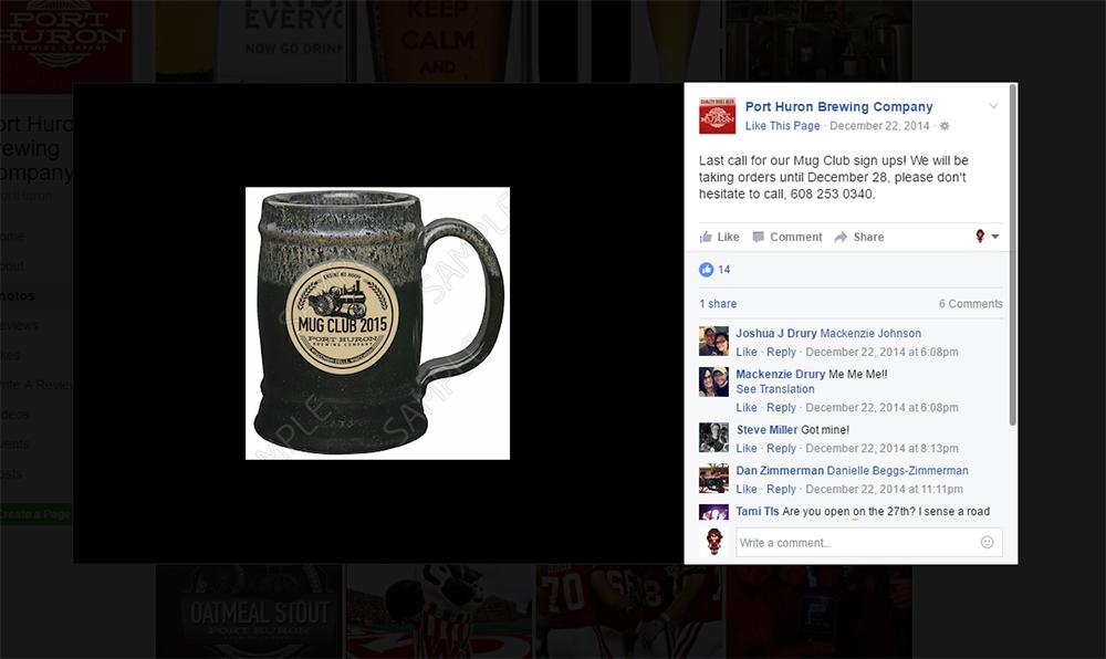 Port Huron Mug Club Promotion